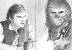 Han and Chewie by whu-wei