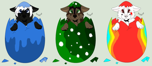 Easter Wolf YCHs for Xana-Akai by ChaosAngel1111