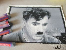 Charlie Chaplin  - Oil Pastels by NataliesCourageClub