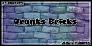 Drunk's Bricks -- PS Brushes by JINXD-PARADOX