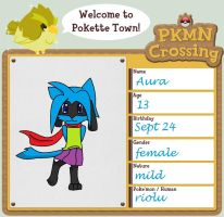 PKMN Crossing-Aura by DarkStarWolf13