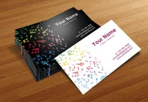 Musician Business Cards Templates by BorceMarkoski