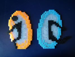 Portal Perler Magnets by blargofdoom