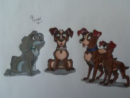 Request-Lady and Tramp's kids breed switchover 2 by SegaDisneyUniverse