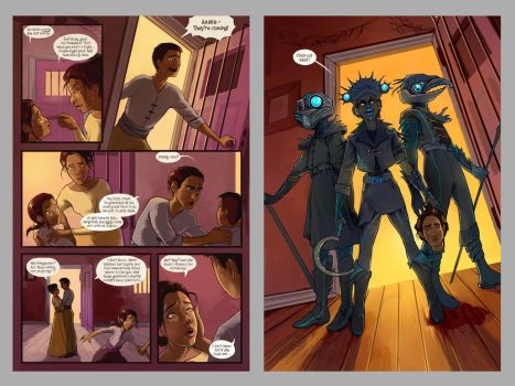Schismatic Pages 7 and 8 by RachaelBriner