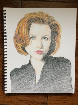 Dana Scully by Okijnas