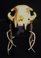 Rodent Rib Bone Earrings by Shamans-Yoik