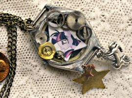 My Little Pony Twilight Sparkle Two Sided Necklace by elllenjean