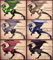Dragons Paterns by IzaPug