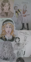 Les Mis sketches by PiippaB