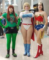 Poison Ivy, Power Girl, and Wonder Woman by trivto