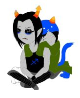 Equius and Nepeta by ShadowedbyShuck