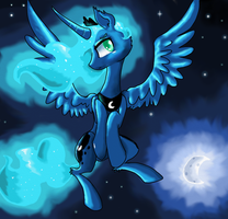 Character Portrait: Princess Luna by NicoTheMintyRabbit