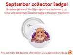September 2014 collector badge by Little-Miss-Boxie