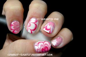 Water Marble: Pink Baby Shower by Cowboy-Slightly