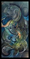 Alien salad...abstract painting by Amytea