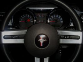 Dashboard of Mustang GT by Partywave