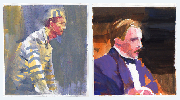 Gouache Portrait Sketches by parkurtommo
