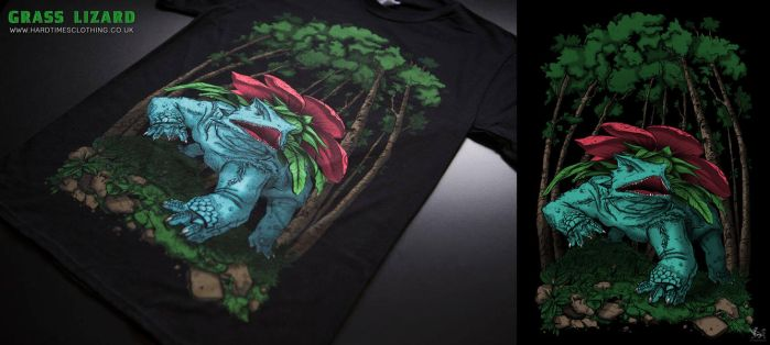 Hard Times Clothing - Grass Lizard by catandcrown