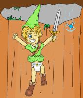 Link's leap of faith by Baby-Tobias