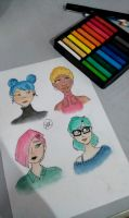 Pastels Girls by hidingmymess
