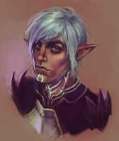 Broody elf by jazzmire