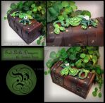 Green Dragon on Small Long Chest by Tpryce