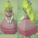 Princess Peach Papercraft by ganon-destroyer
