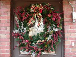 Christmas Wreath-1 by Rubyfire14-Stock