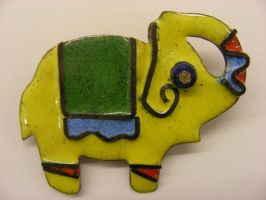 enamel elephant by SprinklesGirl