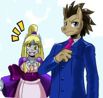 Doctor Wright and Maya Hooves by ss2sonic