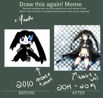 Before and After Meme Black Rock Shooter by Yuudle