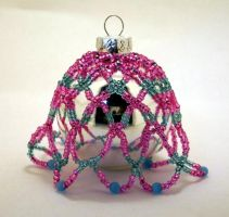Ornament PinkBlue Small Dangle by pinkythepink