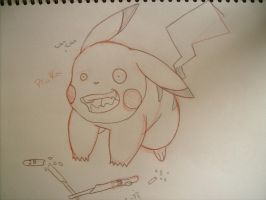 Pikachu loves pocky.... by naruto32