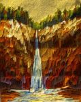 Needlepoint Waterfall by PatGoltz