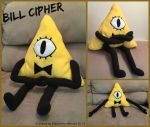 Bill Cipher Plush by CobblestoneHeart