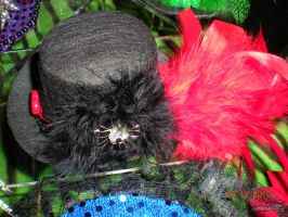 Red and Black Mini Hat by Oriana-X-Myst