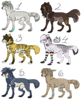 36. Wolves or dogs CLOSED by Khee-Adopts
