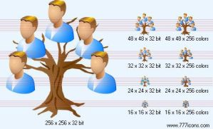 Genealogy Icon by medical-vista-icons