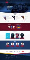 Fc Barcelona web design official site layout by SycylianBeef
