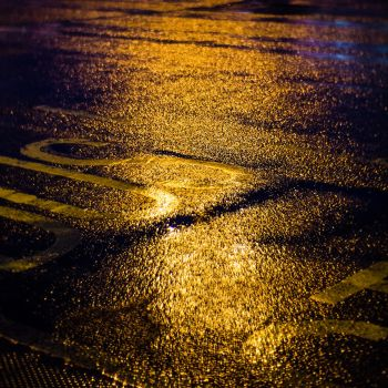 Street Lights and Rain by sine-out