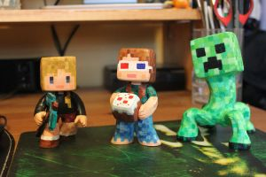 Minecraft Figures by jeccz