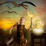 The Magic of Literacy: The Caveman by LadyCarolineArtist
