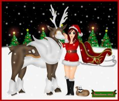Wont You Guide My Sleigh Tonight.... by DannimonDesigns