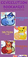 Eeveelution Bookmark by HidamariNoAya