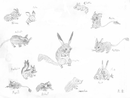 Realistic pokemon: Rodents 1 by Jetavian