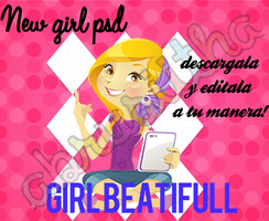 Girl beatifull~ PSD by Abrusiitha