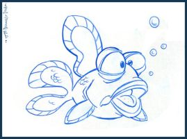 Goldfish Character Design by Cre8tivemarks