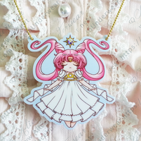 Princess Serenity Small Lady Necklace - Large $10 by FoxyKitsuneko