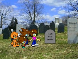 RIP Brian Griffin 1999-2013 by FlaminKitsune
